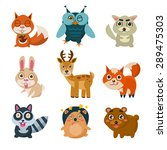 forest animals vector... | Shutterstock .eps vector #289475303