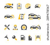 vehicle insurance icons for web ... | Shutterstock .eps vector #289478567