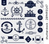 Set Of Sea And Nautical...