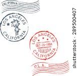 set of postal grunge stamps ... | Shutterstock .eps vector #289500407