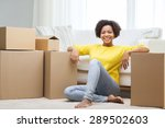 people  moving new place and...   Shutterstock . vector #289502603
