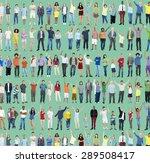 multiethnic casual people... | Shutterstock . vector #289508417