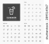 summer thin  medium and bold... | Shutterstock .eps vector #289514567