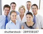 group of happy and positive... | Shutterstock . vector #289558187