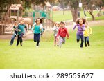 group of young children running ... | Shutterstock . vector #289559627