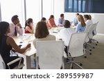 group of businesspeople meeting ... | Shutterstock . vector #289559987