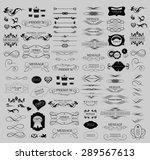 set of calligraphic elements... | Shutterstock .eps vector #289567613