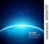 blue globe earth background.... | Shutterstock .eps vector #289569797