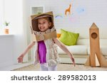 a child plays in the astronaut | Shutterstock . vector #289582013