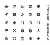 interface icons set isolated on ... | Shutterstock . vector #289582673
