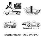 set of car service labels. car... | Shutterstock .eps vector #289590197