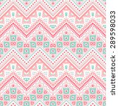 tribal ethnic zig zag pattern.... | Shutterstock .eps vector #289598033