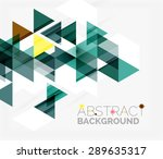 abstract geometric background.... | Shutterstock .eps vector #289635317