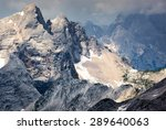 Jagged Mountain Ridges In The...