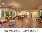 well lit dinning room with... | Shutterstock . vector #289655567