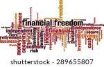 financial freedom word cloud... | Shutterstock .eps vector #289655807