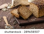 whole wheat bread baked at home ...   Shutterstock . vector #289658507