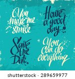 hand drawn lettering for card.... | Shutterstock .eps vector #289659977