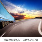 the highway traffic in sunset... | Shutterstock . vector #289664873