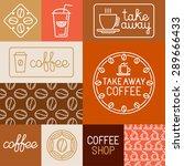vector set of design elements ... | Shutterstock .eps vector #289666433