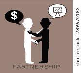 partnership illustration over... | Shutterstock .eps vector #289670183
