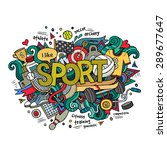 sport hand lettering and... | Shutterstock .eps vector #289677647
