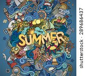 summer hand lettering and... | Shutterstock .eps vector #289686437