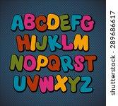 hand drawn cartoon doodle font. ... | Shutterstock .eps vector #289686617