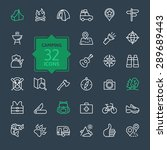 outline icon set   summer... | Shutterstock .eps vector #289689443