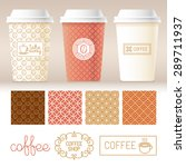 vector take away coffee... | Shutterstock .eps vector #289711937