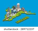 vector isometric city on...   Shutterstock .eps vector #289712237