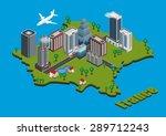 vector isometric city on france ... | Shutterstock .eps vector #289712243