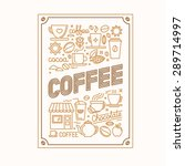 vector coffee poster with... | Shutterstock .eps vector #289714997