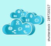 cloud technology concept.eps10 ... | Shutterstock .eps vector #289720217