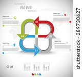 business infographic template... | Shutterstock .eps vector #289730627