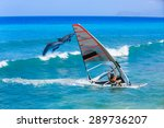 windsurfing and dolphin | Shutterstock . vector #289736207
