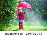 Little Girl With Red Umbrella...