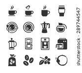 coffee and coffee machine icon. ... | Shutterstock .eps vector #289744547