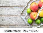 healthy fruit with measuring...   Shutterstock . vector #289748927