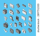 isometric vector icons. 3d... | Shutterstock .eps vector #289751333