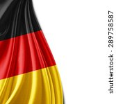 Germany Flag Of Silk And White...