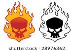 flaming skull vector...