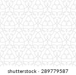 seamless linear pattern with... | Shutterstock .eps vector #289779587
