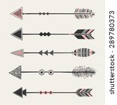 a set of five arrows with... | Shutterstock .eps vector #289780373