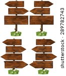 set of directional wooden signs ... | Shutterstock . vector #289782743