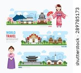 travel and building asia... | Shutterstock .eps vector #289785173