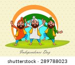 young punjabi men performing... | Shutterstock .eps vector #289788023