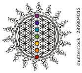flower of life  chakras | Shutterstock . vector #289804013