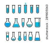 chemical beaker icons set.... | Shutterstock .eps vector #289805063