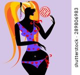 abstract female figure in... | Shutterstock . vector #289806983